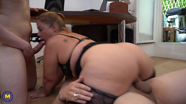 French Chubby Girl Jeny has DP in the office anal blowjob hardcore
