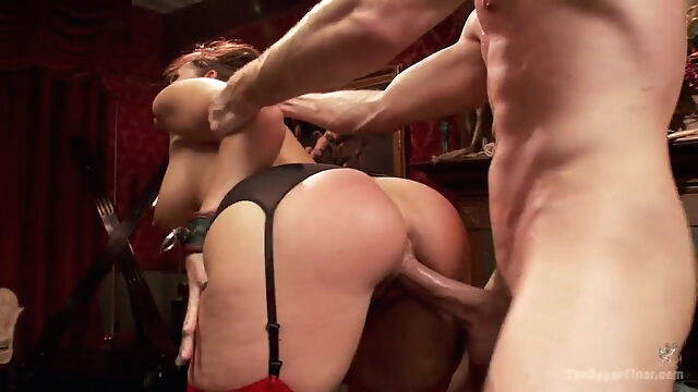 The Upper Floor : Syren De Mer & Freya French group sex bdsm spanking