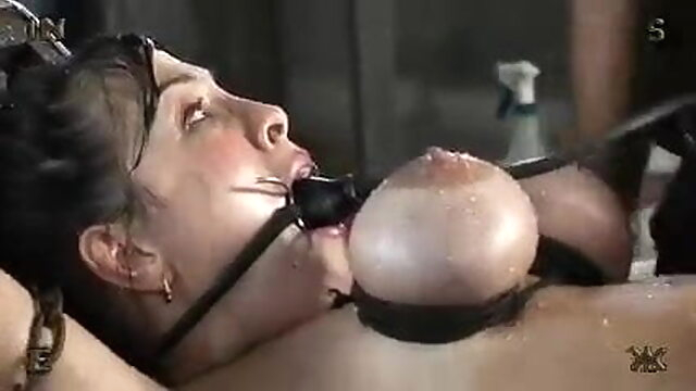 Bdsm & Eesm - Torture At A Farm – Chained Slavegirl blowjob sex toy bdsm