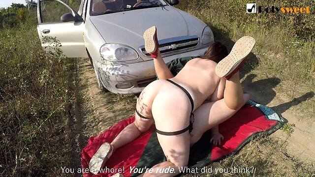 No masks! Public pegging naked, rimming a guy, he cums in his mouth facial bdsm femdom
