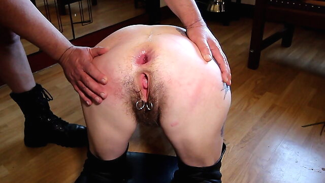 Hairy mature slut fucked in.. anal fingering hairy