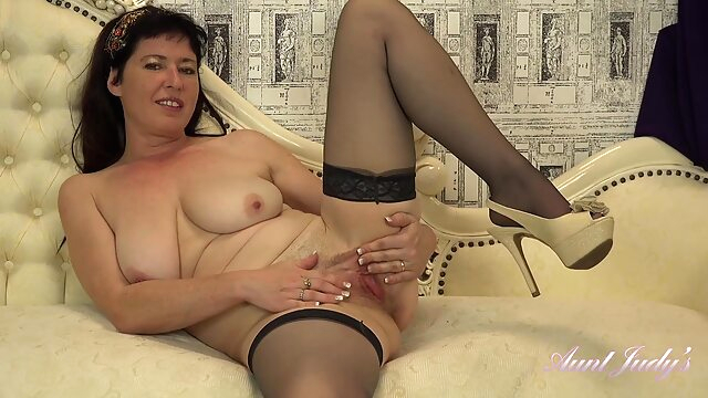 AuntJudys - Auntie Janey Wants To Watch You Jerk Off big tits brunette hd