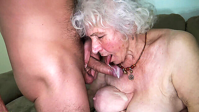 curvy 91 years old mom fucked by toyboy big tits granny mature
