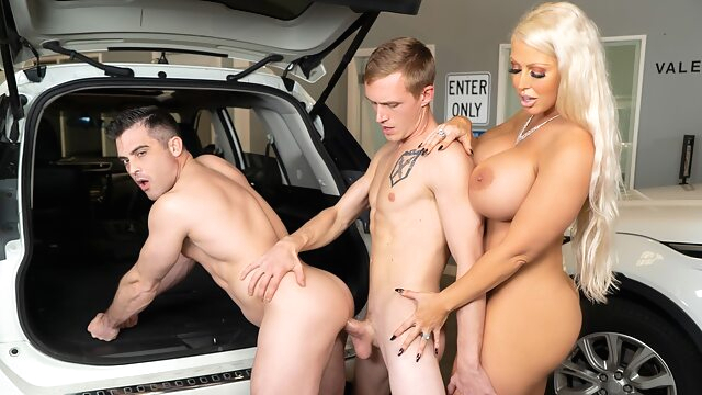 Alura TNT Jenson & Lance Hart & Zane Anders in Parking In Rear - WhyNotBi bisexual male