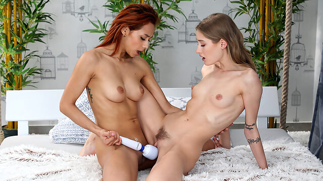 Tiffany Tatum & Veronica.. european fingering high heels