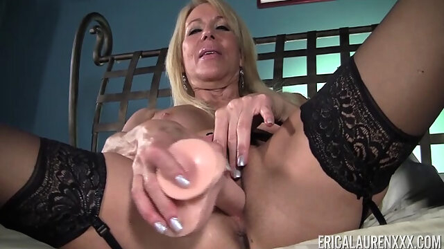 Erica Lauren in Sticking with Large Dildo - EricaLaurenXXX blonde masturbation milf