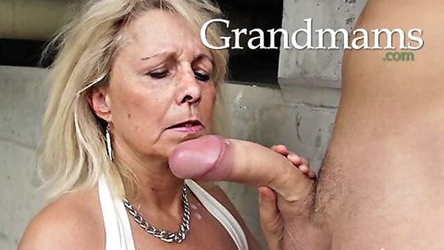 Grandmas just love young cocks blowjob mature big boobs