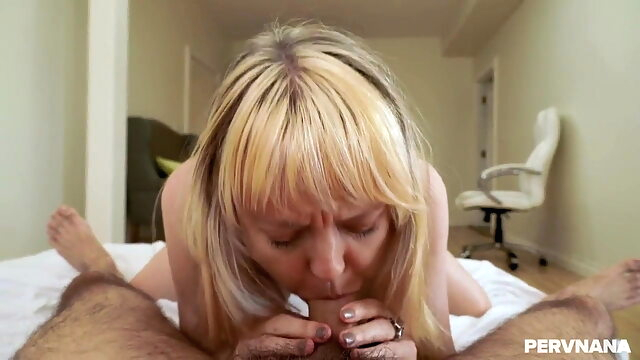 Grandma Nanny blonde blowjob pornstar