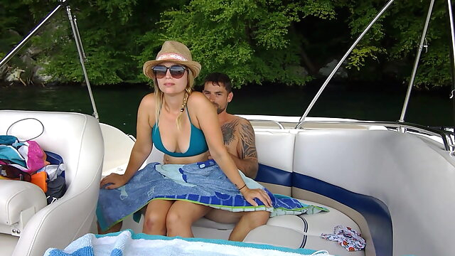 Some fun with public sex on our boat blowjob public nudity handjob