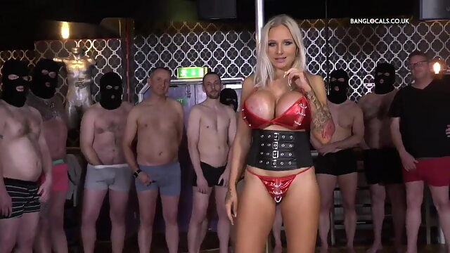 British Slut Gets Destroyed.. blonde hardcore group sex