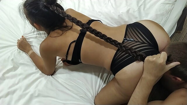 The wettest slut ever in my hotel room blowjob cumshot fingering