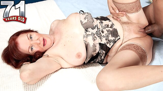 The 70plus Milf And The 24-Year-Old Stud - Katherine Merlot - 60PlusMilfs big ass big tits high heels