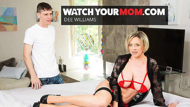 Hot Mom Dee Williams Gets Fucked By Young Cock - WatchYourMom big tits blonde lingerie