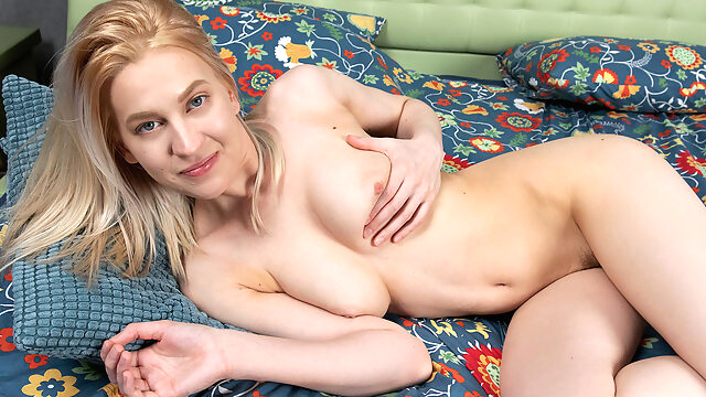 Avrora White in Playing With My Pussy - Nubiles big tits blonde high heels
