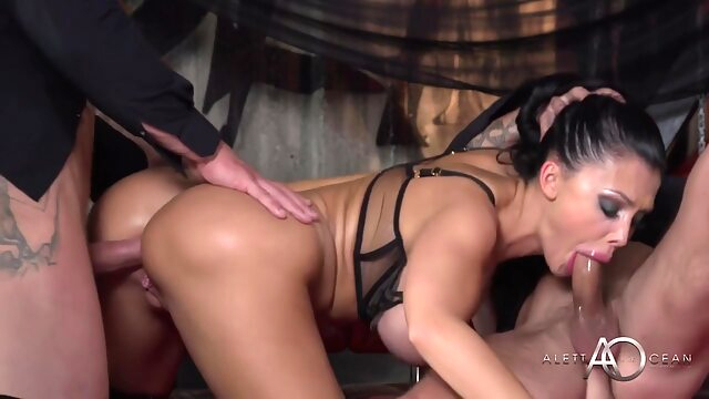 Aletta Ocean in Black Leather Anal anal big ass big tits