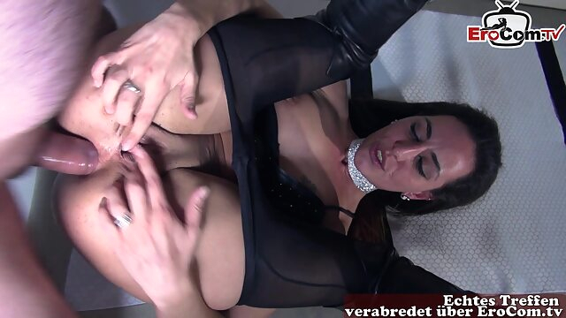 anal in nylon pantyhose with hot brunette milf amateur anal brunette